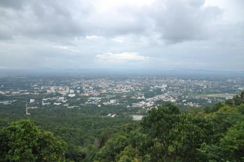 Monsunregen über Chiang Mai