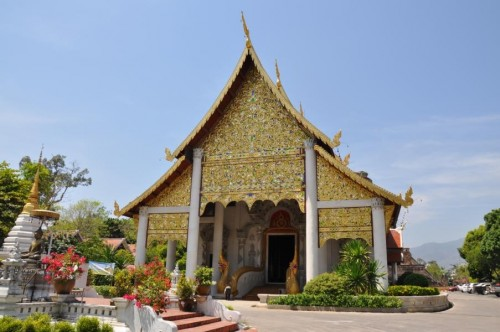 Traditionelles Wat in Chiang Mai