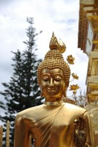 Schöne thailändische Statue am Wat Doi Suthep Tempel