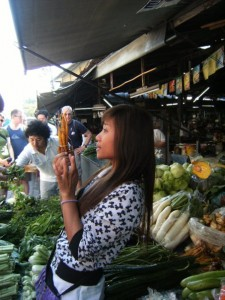 Auf dem Sompet Market in Chiang Mai