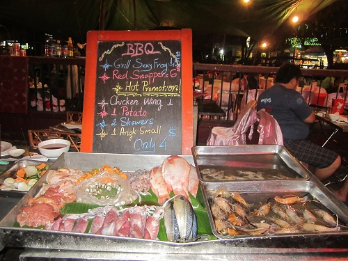 Meeresfrüchte auf Phuket