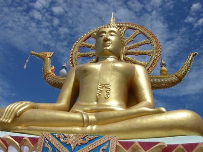 Goldene Buddha Statue Foto:   © Mandy Neuhof - Fotolia.com